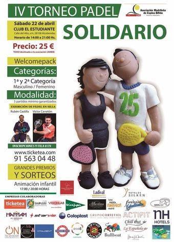 AMEB organiza un torneo de pádel solidario