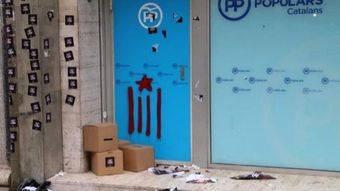 El Ayuntamiento expresa su rechazo a los ataques de Juventudes de la CUP a la sede del PP de Cataluña