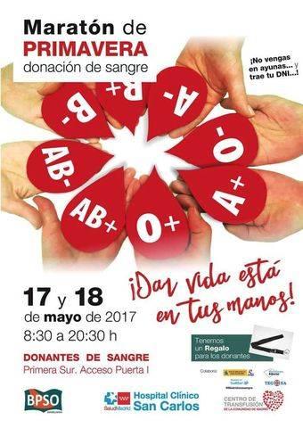 Maratón de Donación de Primavera en Moncloa-Aravaca