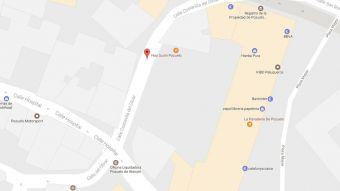 Cortes en la calle Costanilla del Olivar de Pozuelo este jueves