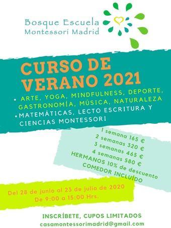 Curso de verano en Bosque Escuela Montessori Madrid (Urbanización La Florida)