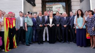 """""""Solidaridad, apoyo, cariño y dolor"""" de los madrileños frente a los atentados terroristas"""