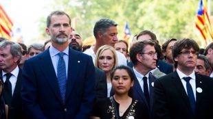 Cifuentes en la manifestación de Barcelona en nombre de todos los madrileños