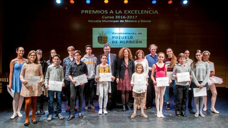 El Ayuntamiento de Pozuelo entrega los Premios a la Excelencia de la Escuela Municipal de Música y Danza