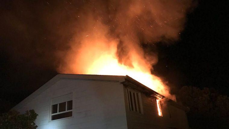Extinguido un aparatoso incendio en un chalet de Pozuelo de Alarcón