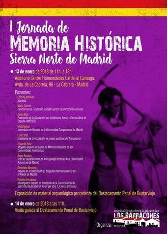 Primera jornada de Memoria Histórica en la Sierra Norte de Madrid