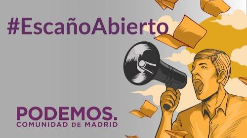 Podemos Madrid apuesta por la participación digital con #EscañoAbierto