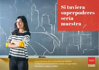 La Comunidad estrena una campaña para reconocer la labor de los docentes madrileños