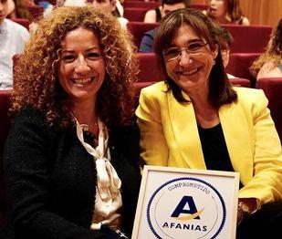 """El Ayuntamiento, distinguido con el Sello """"Afanias Comprometido"""" por su atención a las personas con discapacidad intelectual"""