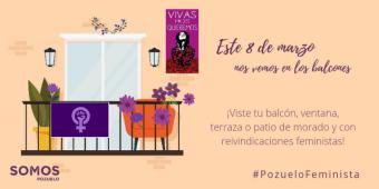 """""""Nos vemos en los balcones"""" la campaña feminista de Somos Pozuelo para el 8 de marzo"""