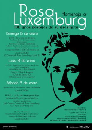Conmemoración centenario del asesinato de Rosa Luxemburg