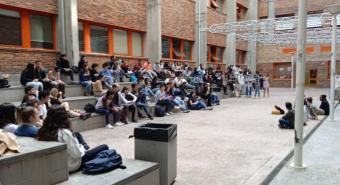 Estudiantes de Somosaguas se movilizan contra Castells