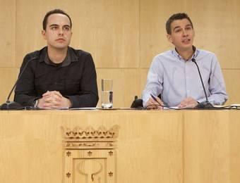 José Manuel Calvo y Pablo Soto presentan los resultados sobre el proceso participativo de la remodelación de Plaza de España.