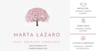 Marta Lázaro. MEDIACION - COMPLIANCE - LITIGIOS