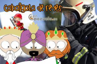 Los bomberos de la Comunidad repartirán caramelos y cuentos en la Cabalgata de Reyes de Pozuelo