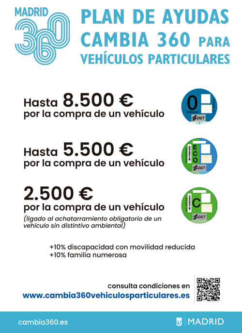 Plan Cambia 360: las claves para la solicitud de ayudas para vehículos particulares en Madrid