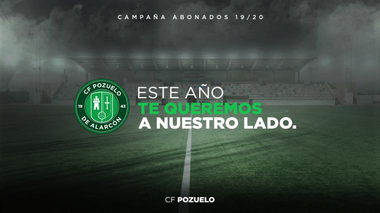 """El CF Pozuelo anuncia sus patrocinadores y lanza su nueva campaña de abonados bajo el claim """"Este año te queremos a nuestro lado"""""""