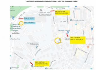 El Ayuntamiento de Pozuelo informa de un nuevo corte de tráfico en la calle Sagunto por labores de asfaltado