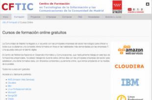 La Comunidad de Madrid colabora con empresas del sector tecnológico para ofrecer cursos online gratuitos