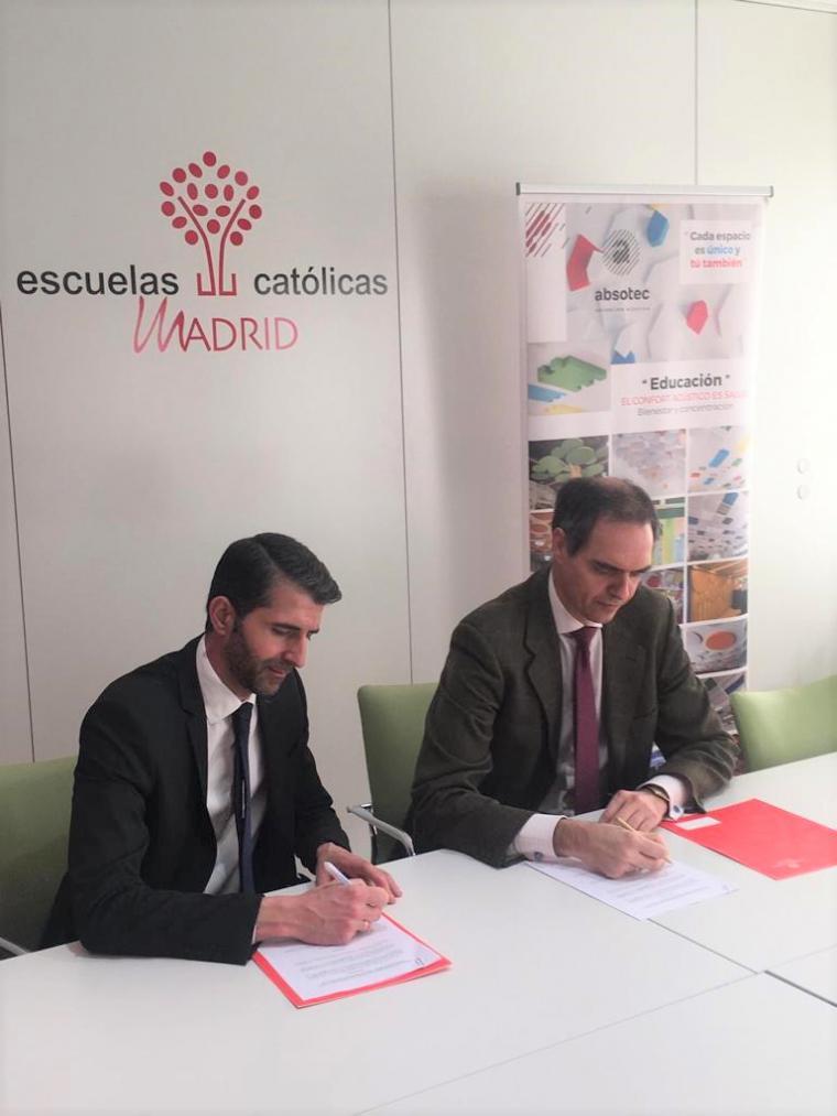ABSOTEC y Escuelas Católicas firman un acuerdo de colaboración en pro del confort acústico en los centros educativos