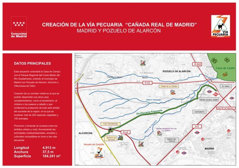 La Comunidad aprueba la creación de la vía pecuaria Cañada Real de Madrid