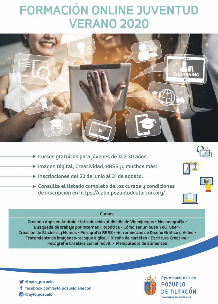 El Ayuntamiento de Pozuelo de Alarcón ofrece este verano un programa de cursos online para los jóvenes de la ciudad