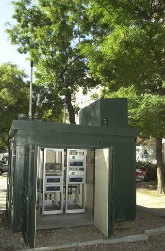 Caseta medidora de la contaminación en Moncloa-Aravaca
