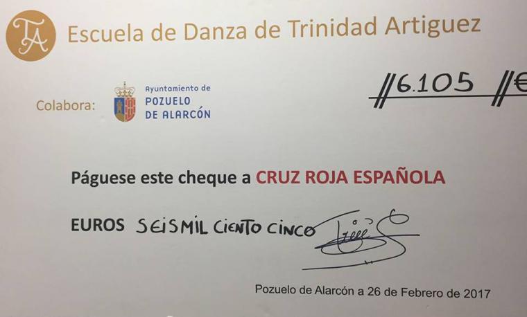 La actuación de la Escuela de Danza Trinidad Artíguez recauda 6.105 euros a favor de Cruz Roja Pozuelo
