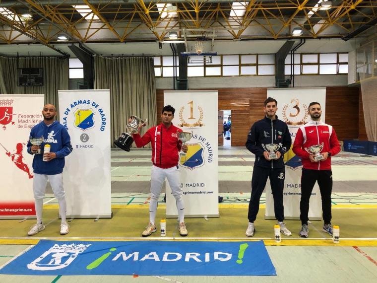 Juan Pedro Romero se cuelga la medalla de bronce en el Torneo Nacional senior de Madrid
