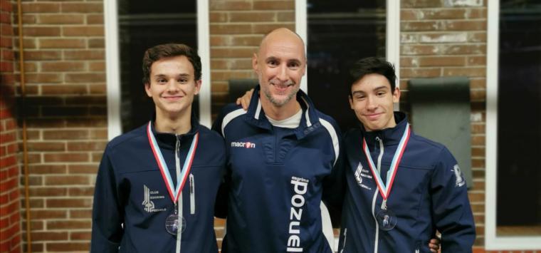 Oro en Luxemburgo para la selección española cadete con dos miembros del Club Esgrima Pozuelo