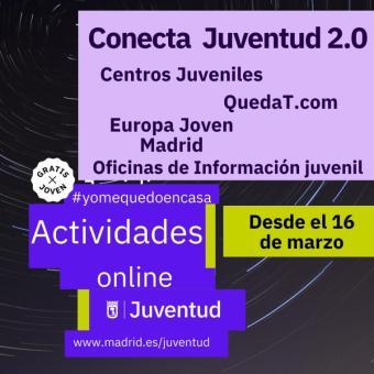 El Ayuntamiento de Madrid amplía Conecta Juventud 2.0, un programa con más de 40 actividades de ocio digital
