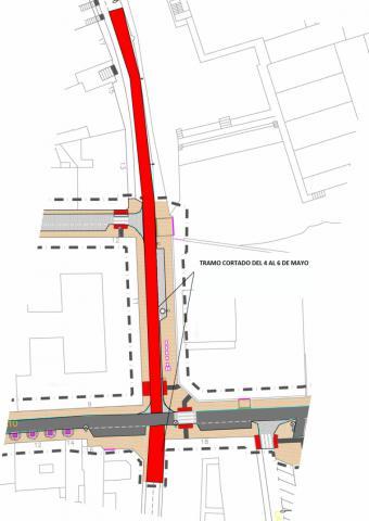 La calle Reina Mercedes de Pozuelo de Alarcón estará cerrada al tráfico desde hoy hasta el 6 de mayo