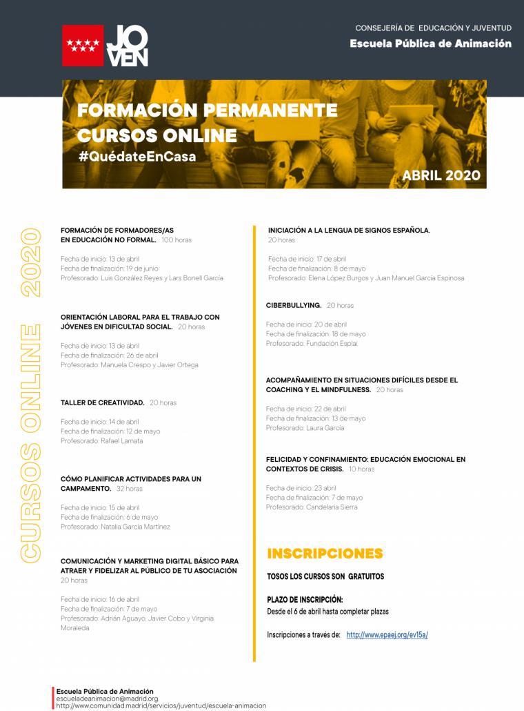 La Comunidad de Madrid amplía su oferta de cursos de formación online gratuitos para jóvenes