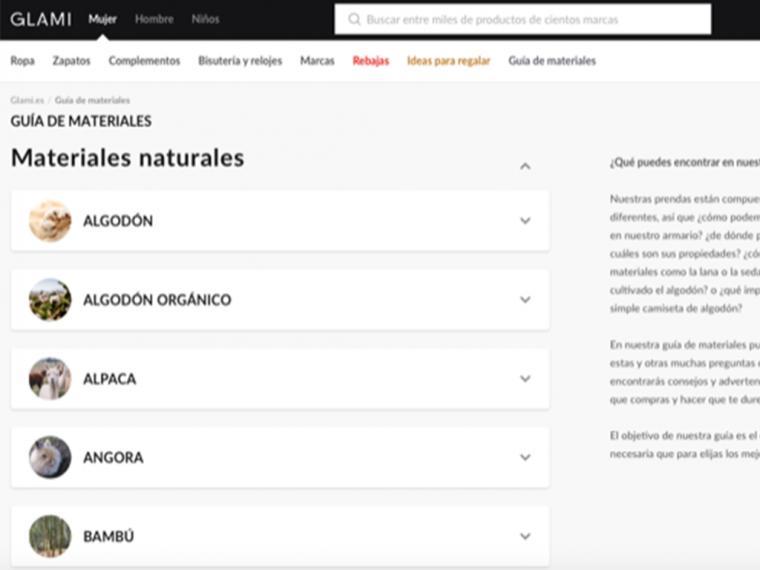 GLAMI lanza una útil guía de materiales con la información necesaria para que la usuaria pueda elegir las mejores prendas