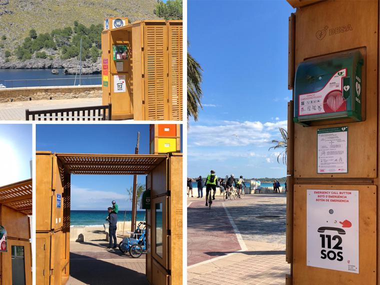 Innovación en las playas españolas para proteger la piel y el corazón de los bañistas