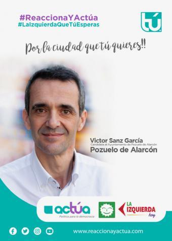 Víctor Manuel Sanz: 'Concentraríamos nuestros esfuerzos en la lucha contra la desigualdad: no puede ser que tengamos en nuestro pueblo niños que si se cierra el comedor escolar no puedan comer adecuadamente'