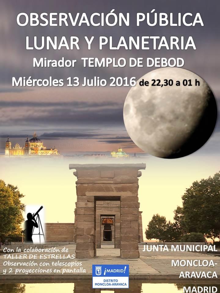 Moncloa-Aravaca organiza una observación lunar y planetaria
