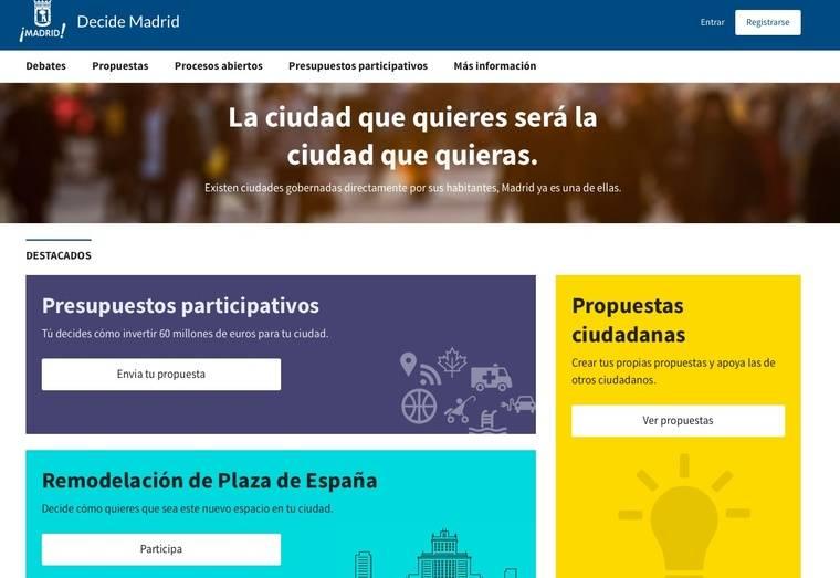 Un millón de visitas a Decide Madrid