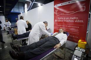 Vuelve la campaña de donación de sangre 'Estás a un Metro de salvar muchas vidas' a Madrid