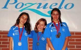 Nueve medallas para el Club Natación Pozuelo