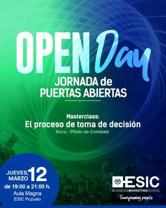 El próximo 12 de marzo, ESIC realiza su OPEN DAY