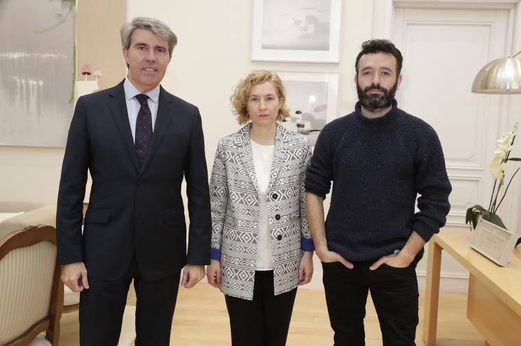 Garrido recibe al cineasta Rodrigo Sorogoyen, candidato a los Oscar por un cortometraje apoyado por la Comunidad