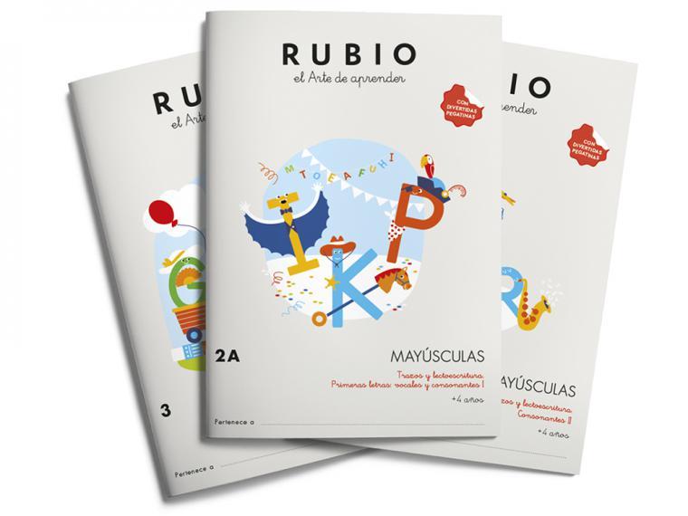 Mayúsculas Rubio, crece la colección con la que los peques aprenden a escribir