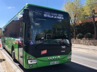La línea de autobús 532 que une Madrid y Sevilla la Nueva aumenta su frecuencia de paso