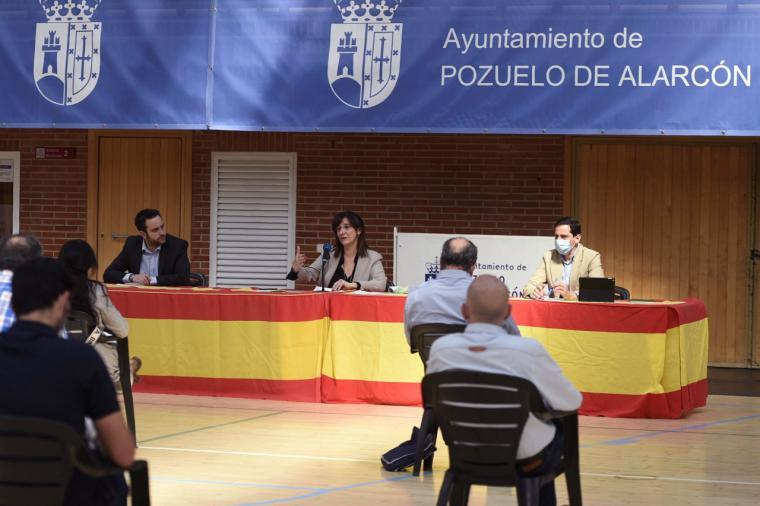 La alcaldesa, Susana Pérez Quislant, se reúne con los clubes deportivos de la ciudad para exponer las medidas adoptadas y las propuestas a poner en marcha frente al Covid-19