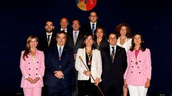 Imagen del pasado mes de junio cuando la alcaldesa de Pozuelo de Alarcón firmó el Decreto de concejalías del nuevo Equipo de Gobierno