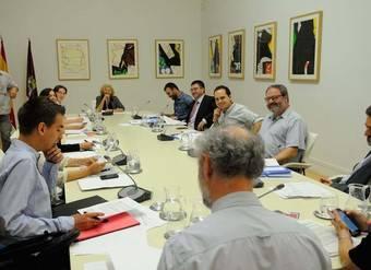Junta de Gobierno presidida por la alcaldesa de Madrid, Manuela Carmena