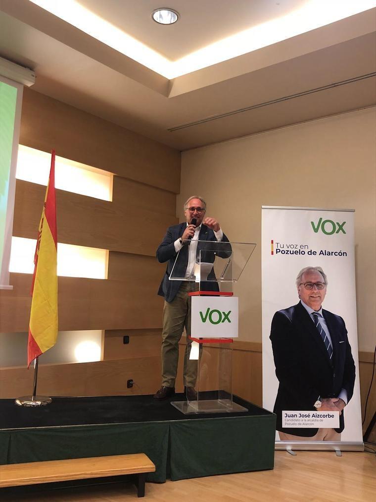 Juan José Aizcorbe, candidato a alcalde de Pozuelo de Alarcón por Vox.