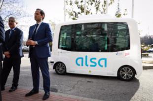 """Aguado: """"La Comunidad de Madrid lanza un proyecto piloto de bus autónomo para transporte universitario en el campus de la UAM"""""""