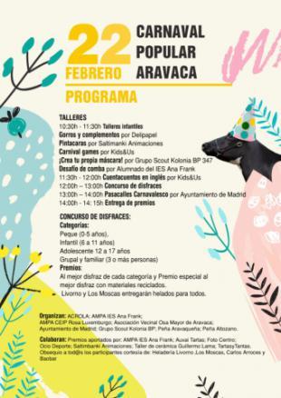 ¡Disfruta del Carnaval de Aravaca!